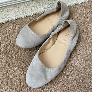 Jcrew Suede Made in Italy Stone Leather Flats 6